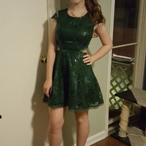 Forest Green Homecoming Dress Juniors Size 3